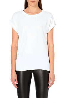 REISS Fluid scoop neck top