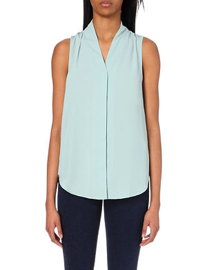 REISS Anchor crepe top