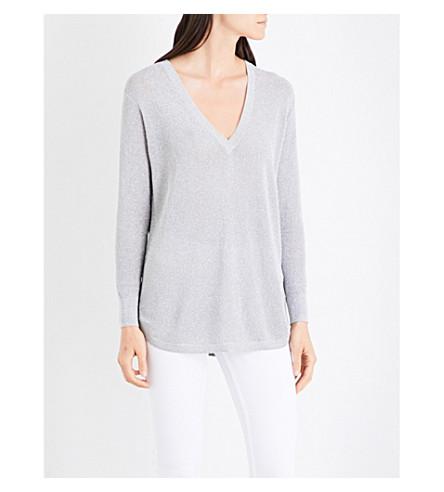 REISS Bless metallic jumper (Silver