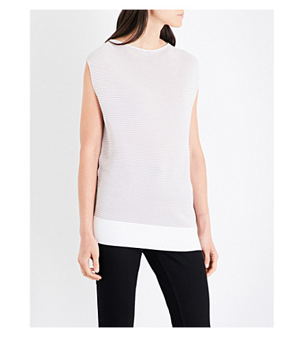 REISS Lucinda knitted top (Nude