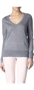 REISS Steffie v-neck jumper