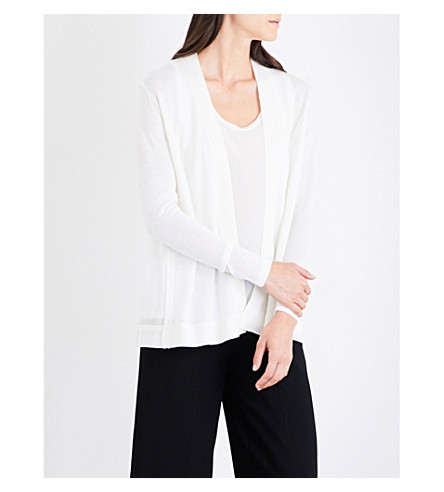 REISS Tanner wool and silk cardigan (Off+white