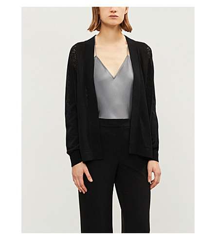 REISS Natasha knitted cardigan (Black