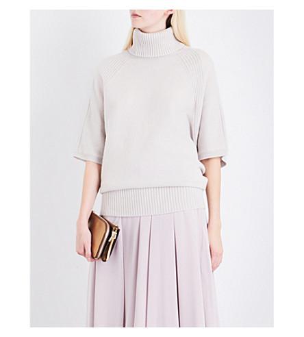 REISS Alex turtleneck wool-blend jumper (Limewash