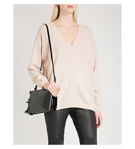 REISS Kia V-neck wool and cashmere-blend jumper (Blush
