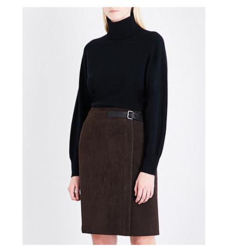 REISS Adira turtleneck cashmere jumper (Black