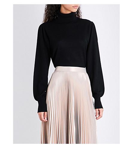 REISS Caroline turtleneck wool jumper (Black