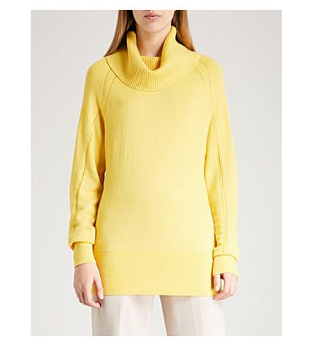 REISS Tatun turtleneck knitted jumper (Yellow