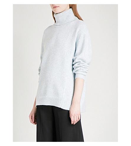 REISS Hannah turtleneck knitted jumper (Blue