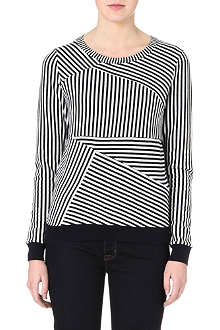 REISS Barker striped jumper