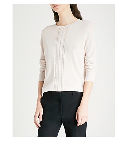 REISS Serena merino wool jumper (Grey+melange