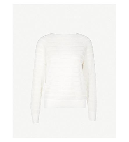 REISS Saffi wool-blend jumper (Off+white
