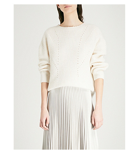 REISS Meagan knitted jumper (Off+white