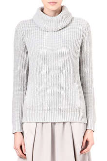 REISS Asto chunky roll-neck jumper
