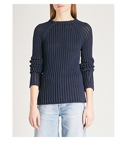 REISS Ariana knitted jumper (Navy