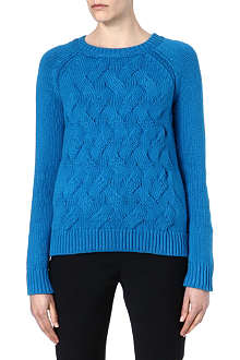 REISS Theola cable knit jumper