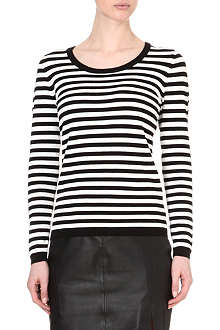 REISS Anika crew-neck striped jumper