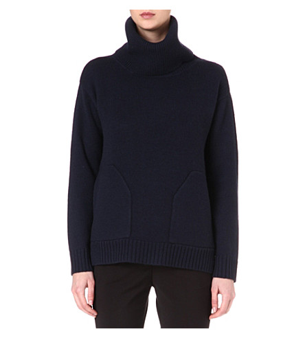 REISS Delo chunky wool jumper (Navy