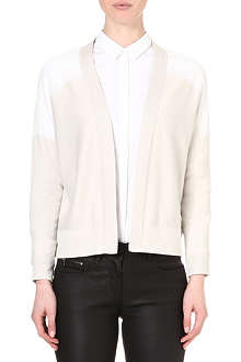 REISS Milna sheer-panel cardigan