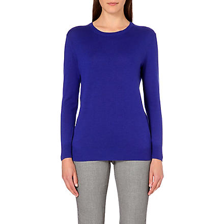 REISS Edie crew neck jumper (Blue