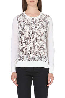 REISS Rover silk-panel jumper