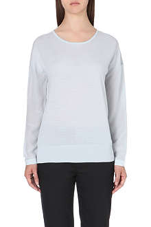 REISS Rivers silk sleeve jumper