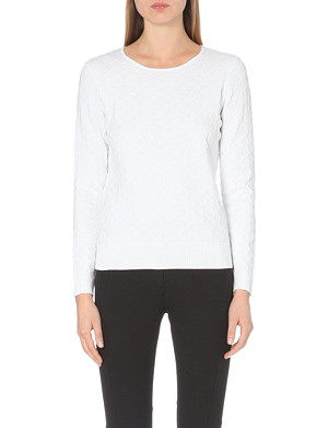 REISS Aggie textured crop jumper