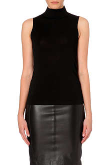 REISS Turin turtleneck sleeveless jumper