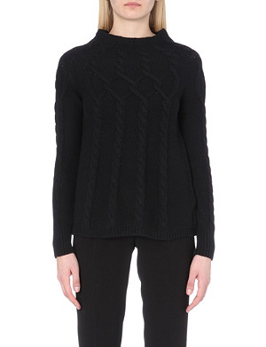 REISS Isa cable-knit jumper