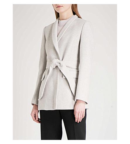 REISS Neya wool-blend coat (Grey+melange