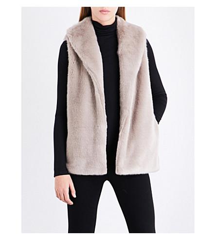 ... REISS Tora sleeveless faux-fur gilet (Sand. PreviousNext 4b8f652949e85