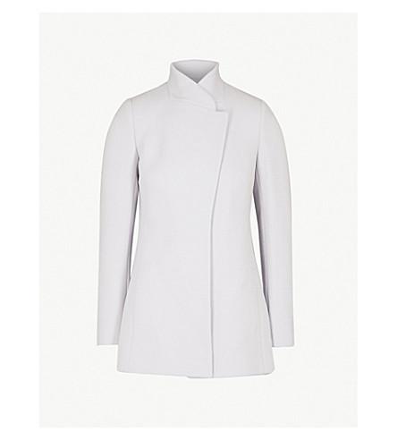 REISS Larsson wool-blend jacket (Light+slate