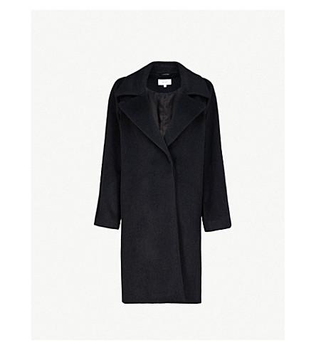 REISS 凯布羊毛混纺大衣 (黑色