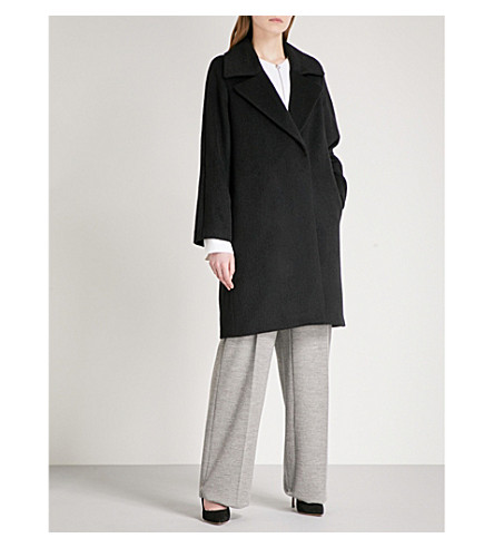 REISS Cabe wool-blend coat (Black