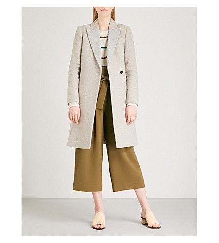 REISS Casey wool-blend coat (Grey