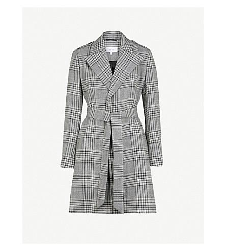 REISS Shelby wool-blend coat (Black/white