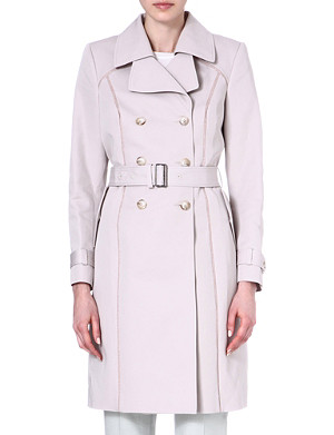 REISS Ladder-seam trench coat