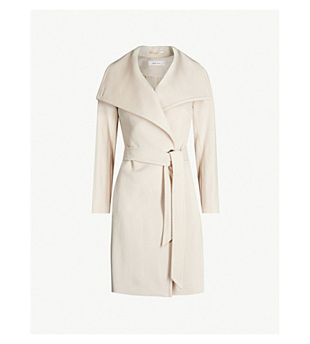 REISS Luna double-breasted wool coat (Light taupe