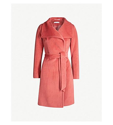 REISS Luna double-breasted wool coat (Raspberry