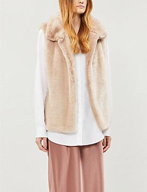 REISS - Fay faux-fur vest  e3c3cc2a38e00