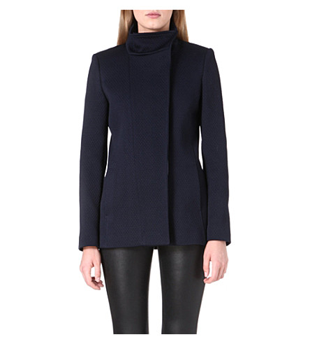 REISS Province quilted jacket (Navy