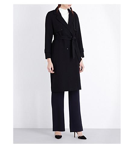 REISS Verdi stretch-crepe coat (Black