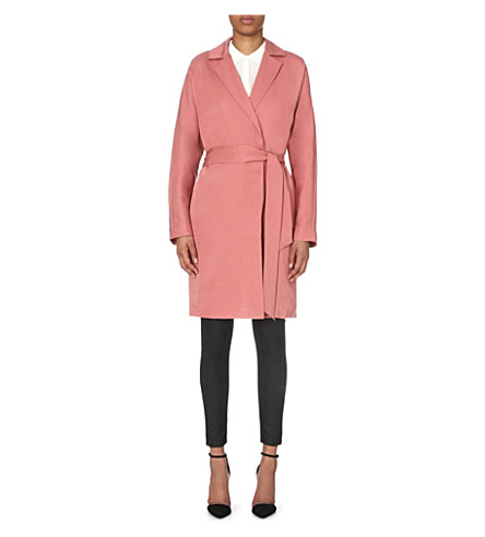 REISS Manhattan woven trench coat (Deep+blush