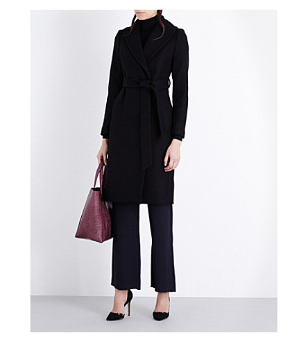 REISS Cody wool-blend coat (Black