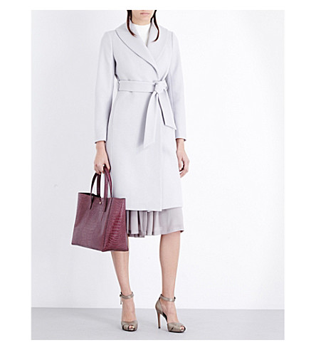 REISS Cody wool-blend coat (Light+slate