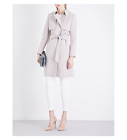 REISS Somerset woven trench coat (Tiramisu