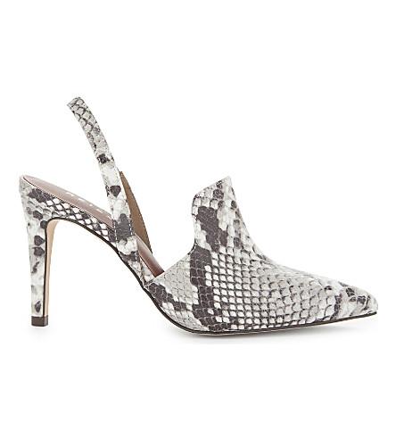 REISS Hayley snakeskin-embossed leather heels (Snake