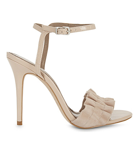 REISS Rafaella leather heeled sandals (Blush