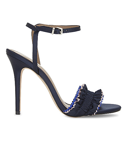 REISS Rafaella heeled sandals (Navy