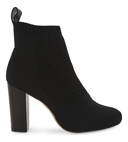 REISS 汞针织踝靴 (黑色